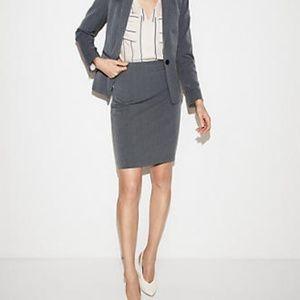 Ann Taylor Grey Pencil Skirt Career Suiting 14